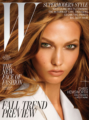 W July 2012 - Karlie Kloss