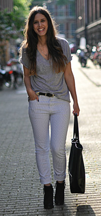 Forum Street Style Pairing Pants With Heels Thefashionspot
