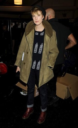 Agyness Deyn spotted between shows around Lincoln Center Fashion Week Feb 2011