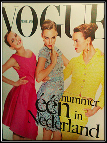Dutch Vogue - debut cover - April 2012