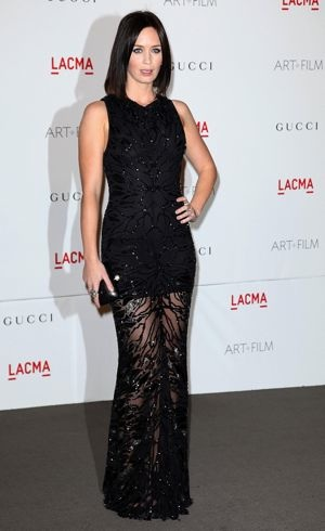 Emily Blunt LACMA Art And Film Gala Los Angeles Nov 2011