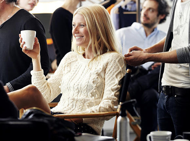 Gwyneth Paltrow Lindex shoot behind the scenes