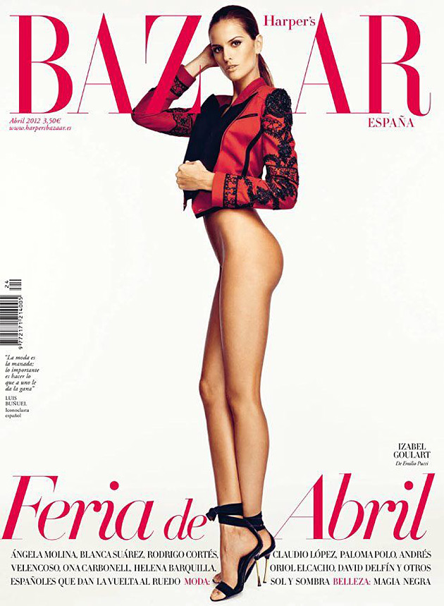 Harper's Bazaar Spain April 2012 - Izabel Goulart by Nico