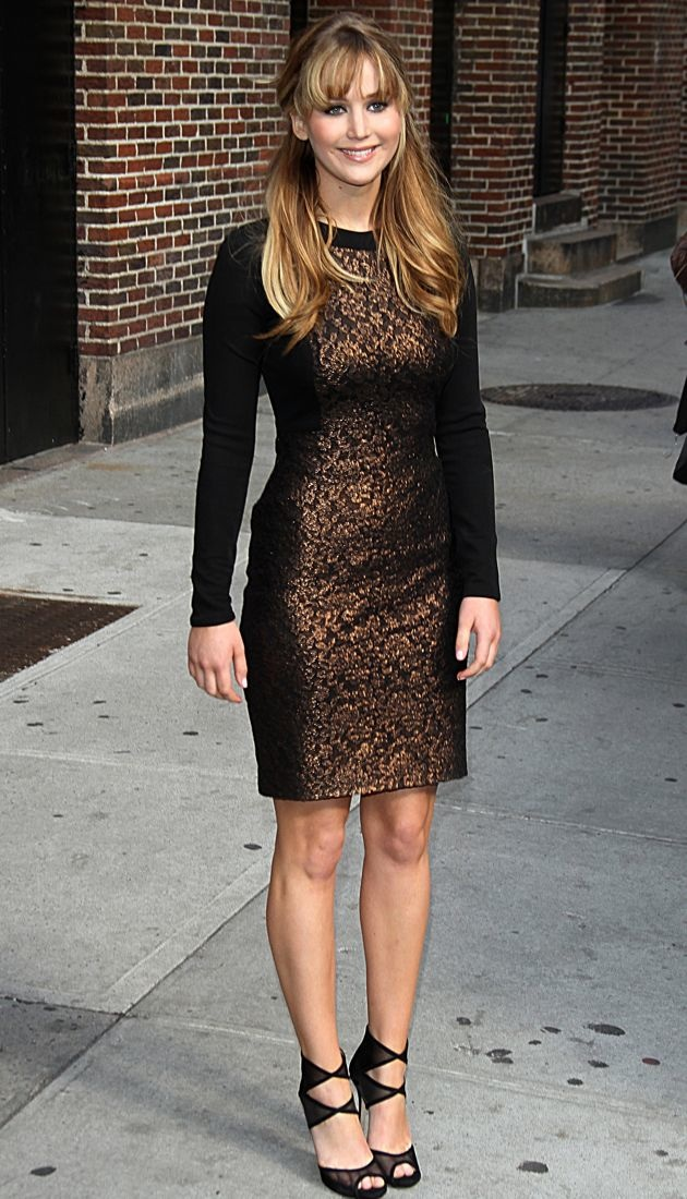 Jennifer Lawrence The Late Show with David Letterman New York City