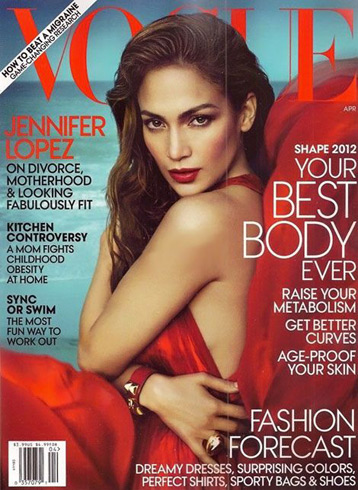 Jennifer Lopez US Vogue Shape Issue cover