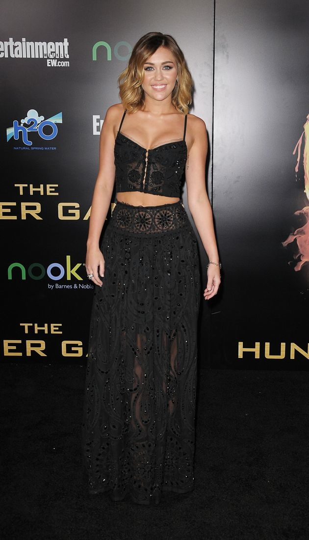 Miley Cyrus World Premiere of The Hunger Games Los Angeles