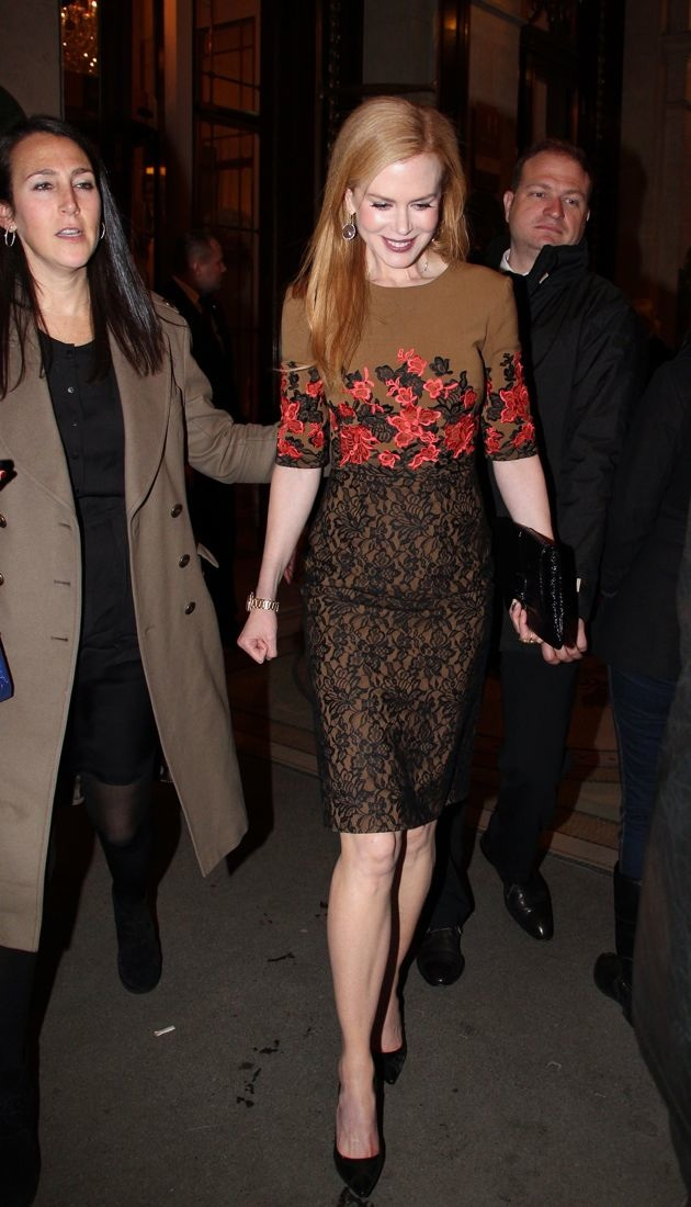 Nicole Kidman heading to Tods private dinner party Paris