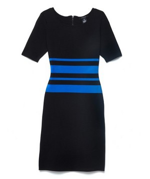 Somethin' Sporty Sleek: Pink Tartan 3/4 Stripe Dress