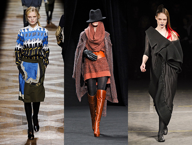 Paris Fashion Week Fall 2012 Hits - Dries van Noten, AF Vandevorst, Yohji Yamamoto