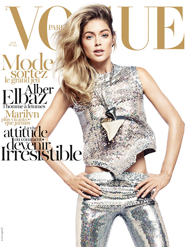 Vogue Paris April 2012 cover - Doutzen Kroes by David Sims