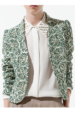 forum buys - Zara printed blazer