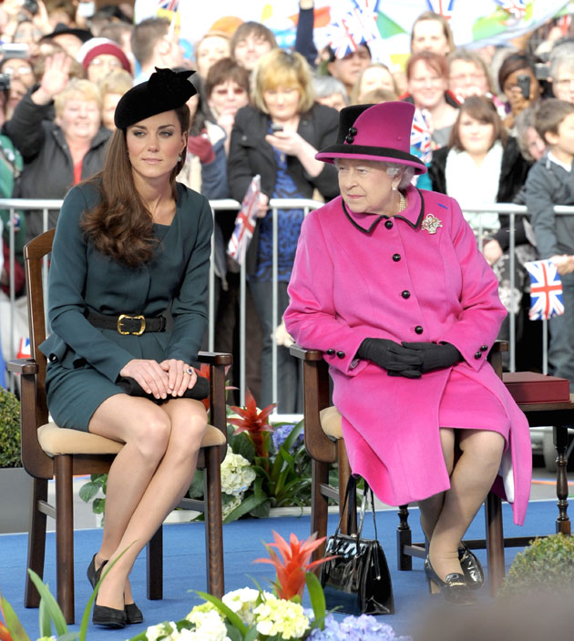 Kate Middleton, Queen Elizabeth at Cheltenham