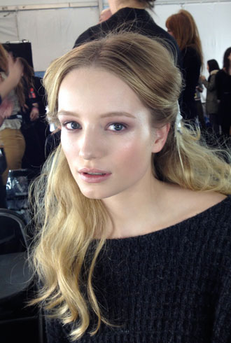 J.Mendel Fall 2012 beauty look