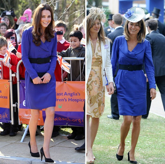 Kate Middleton wears Mum's Reiss dress