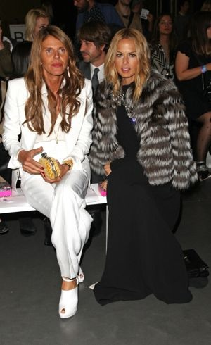 Anna Dello Russo and Rachel Zoe London Fashion Week Spring 2012 Matthew Williamson Front Row Sept 2011