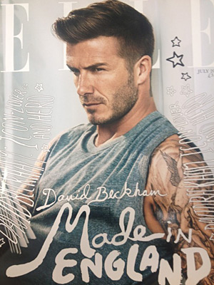 Elle UK July 2012 - David Beckham by Doug Inglish