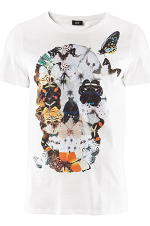 forum buys - H&M butterfly skull tee