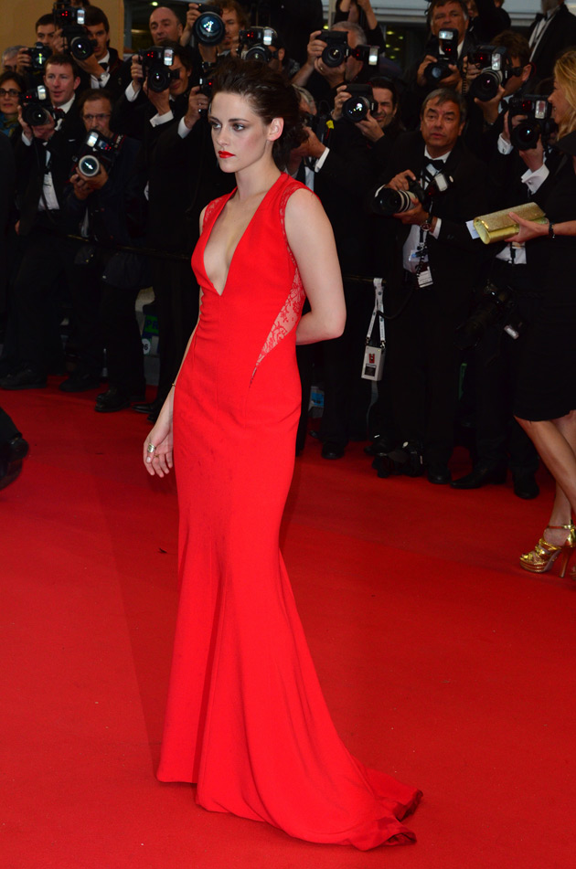 Kristen Stewart was Red Hot in Reem Acra at the Cannes Film Festival ...