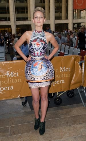 Leelee Sobieski Metropolitan Opera opening night performance of Anna Bolena New York City Sept 2011