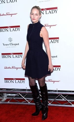Leelee Sobieski New York premiere The Iron Lady Dec 2011