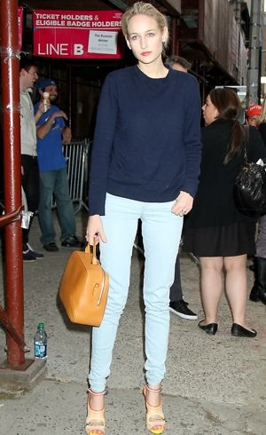 Leelee Sobieski leaving the 2012 Tribeca Film Festival New York City April 2012