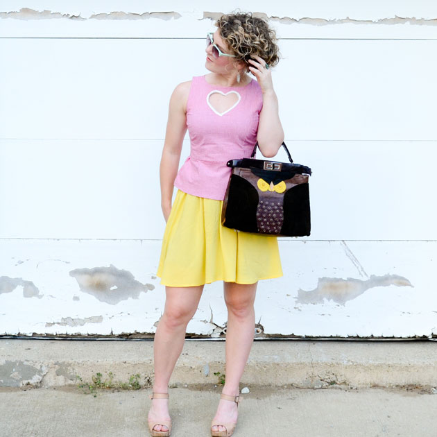 DIY: How to Make a No-Sew Peplum Top Using a Thrifted Dress