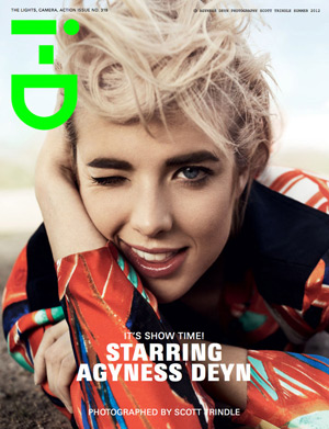 i-D Summer 2012 Cover - Agyness Deyn