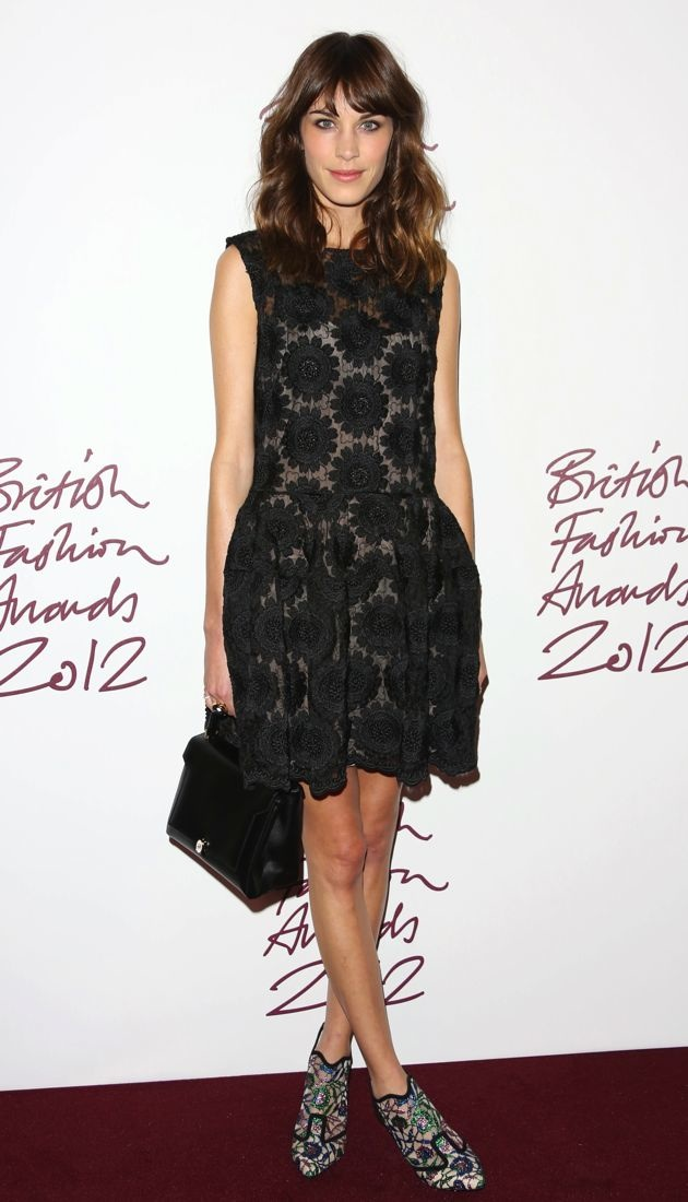 Alexa Chung 2012 British Fashion Awards London