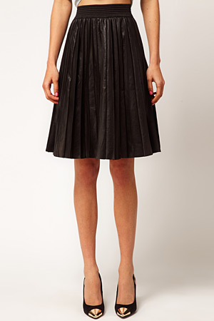 ASOS pleated leather skirt - forum buys