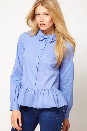ASOS peplum top - forum buys