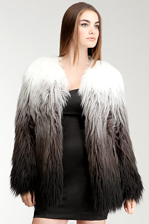Bebe faux fur ombre jacket - forum buys
