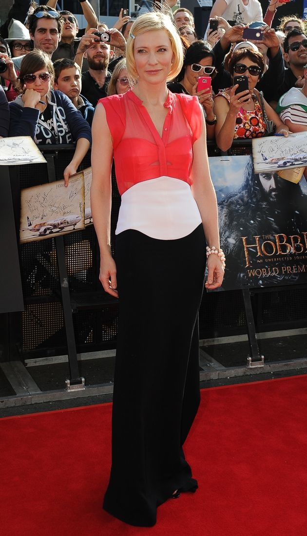 Cate Blanchett World Premiere of The Hobbit Wellington New Zealand