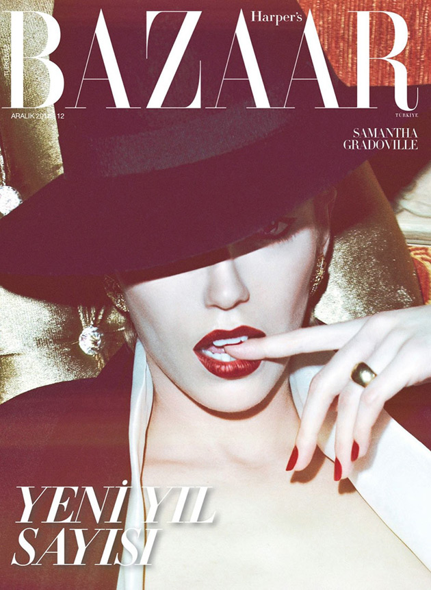 Harpers Bazaar Turkey December 2012 - Samatha Gradoville photographed by Koray Birand