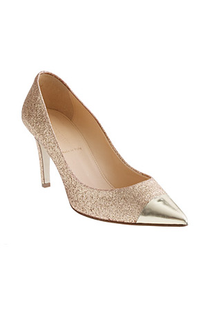 JCrew gold toe Everly glitter pump - forum buys
