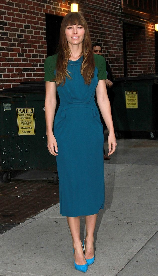 Jessica Biel The Late Show with David Letterman New York City