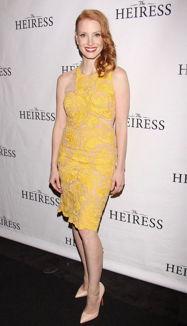 Jessica Chastain Broadway opening night after party for The Heiress New York City
