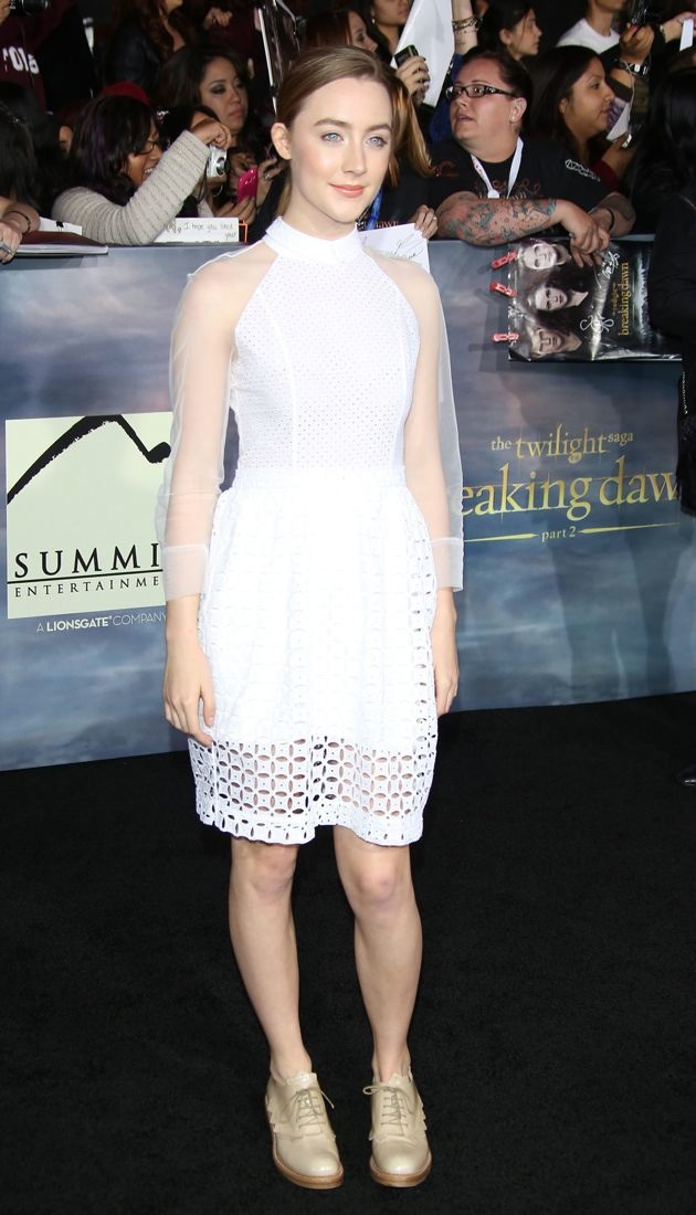 Saoirse Ronan premiere of The Twilight Saga Breaking Dawn Part 2 Los Angeles