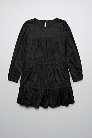 Zara black embroidered dress - forum buys