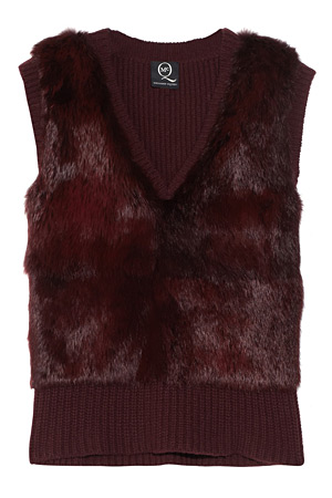 McQ rabbit fur vest - forum buys