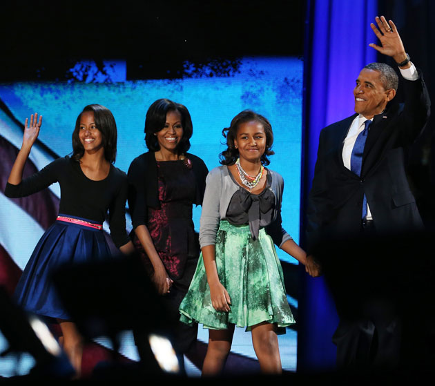 Obamas on election night 2012