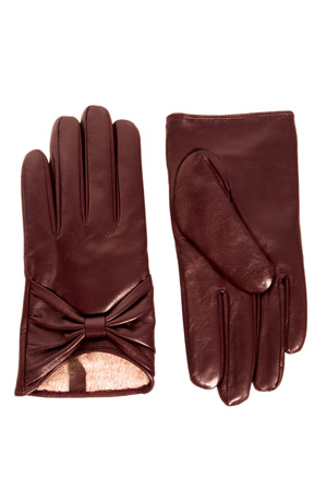 ASOS burgundy leather gloves - forum buys
