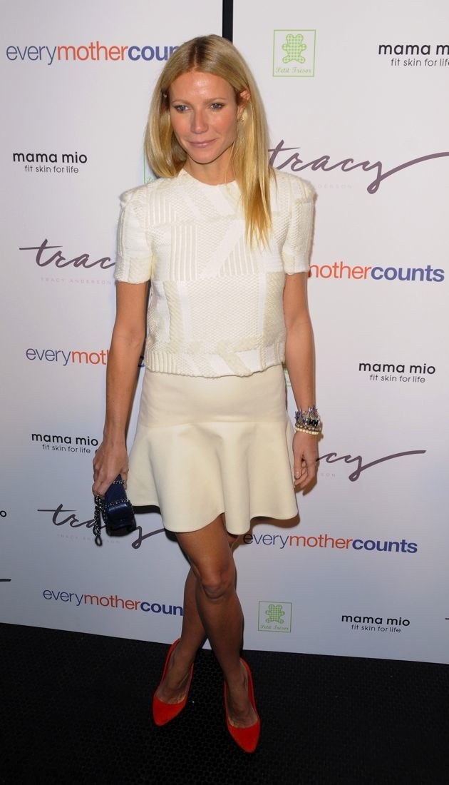 Gwyneth Paltrow The Tracy Anderson Method Pregnancy Project launch party New York City