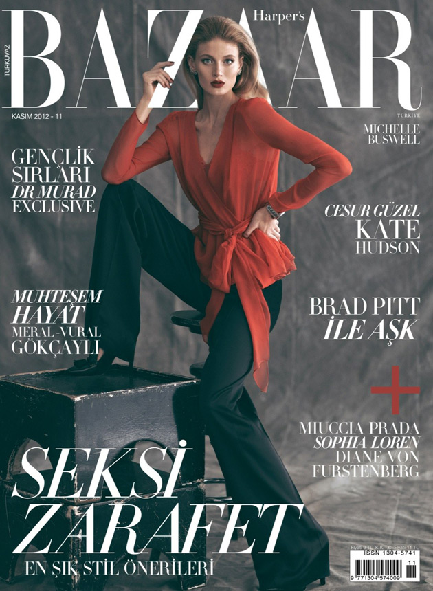 Harper's Bazaar Turkey November 2012 - Michelle Buswell photographed by Koray Birand