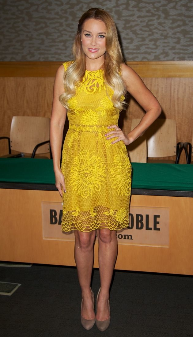 Lauren Conrad promotes her book Starstruck at Barnes and Noble New York City