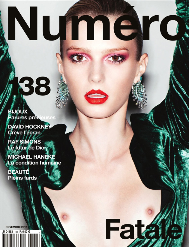 Numero November 2012 - Sigrid Agren photographed by Katja Rawles