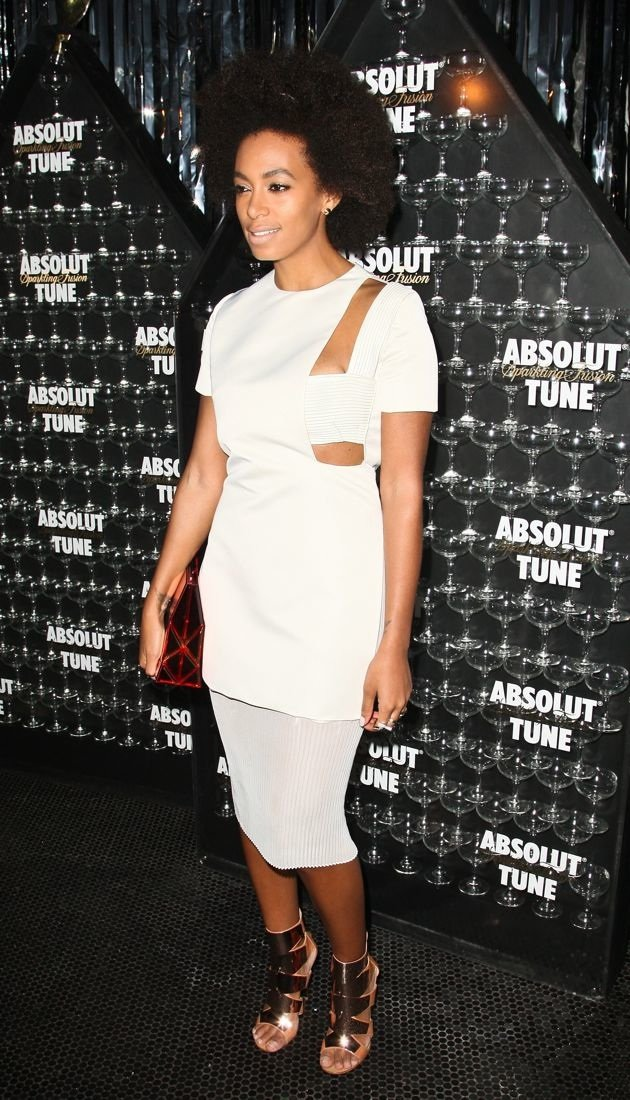 Solange Knowles the official debut party for Absolut Tune vodka New York City