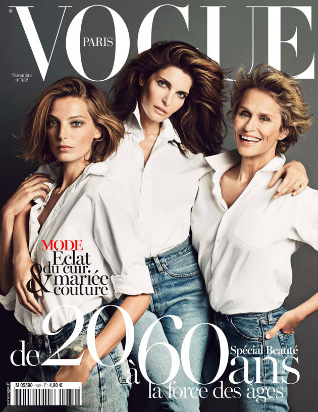 Vogue Paris November 2012 - Daria Werbowy, Stephanie Seymour, Lauren Hutton - photographed by Inez & Vinoodh