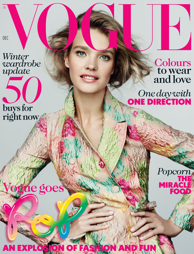 Vogue UK December 2012 - Natalia Vodianova photographed by Mario Testino