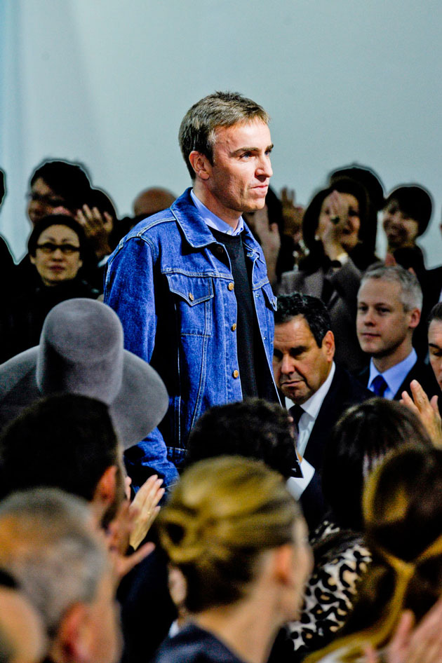 Raf Simons at his First RTW Dior Collection