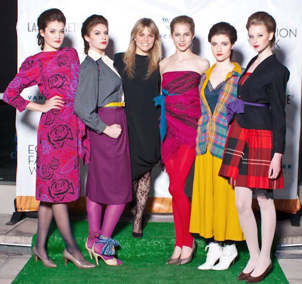 Myriam Laroche (second from left) and Value Village Vintage Collection